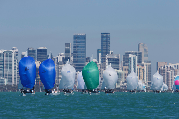 J/24s sailing off Miami, Biscayne Bay