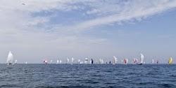 Rund Skagen fleet sailing off Germany