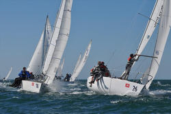 J24s sailing in Europe
