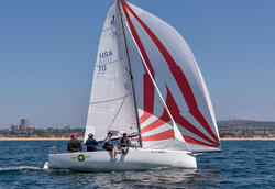 J/70 sailing Newport Dana Point race