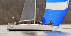 J/133 Constellatoin sailing Vashon Island Race off Seattle