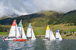 J/70s sailing on Swiss lakes