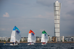 J/70 sailing off Malmo, Sweden