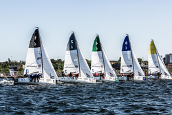 J/70s sailing off start- German Sailing League