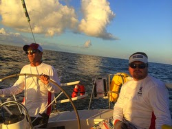 Crew sailing J/120 on Harvest Moon Race