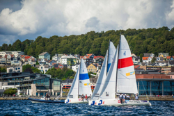 J/70s sailing Norwegian Sailing League