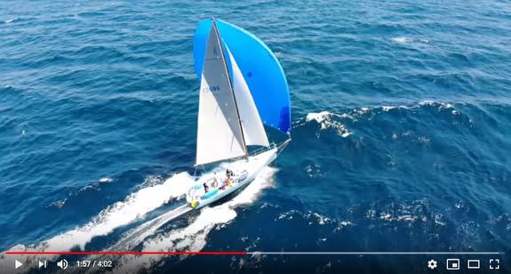 J/125 Hamachi sailing fast offshore