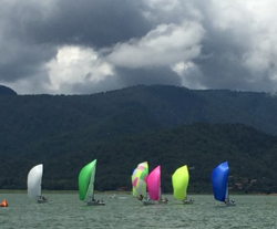 J/70s sailing Women's Worlds- Valle de Bravo, Mexico
