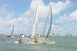 J/24s sailing Corpus Christi, TX