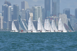 J/70 Midwinters start off Miami