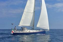 J/122 Sky Hunter sailing off Portofino, Italy
