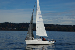 J/80 sailing off Seattle, WA