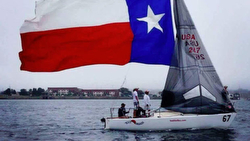 J/24 sailor- Kelly Holmes-Moon sailing in Houston, TX
