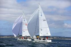 J/105s sailing off Whidbey Island, WA