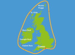 J/122s sailing Round Britain Ireland Race