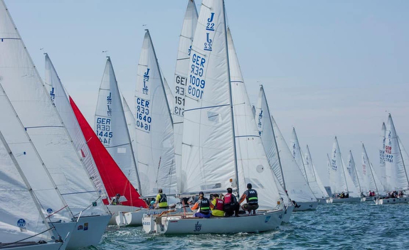 J/22s starting at J/22 Worlds in Germany