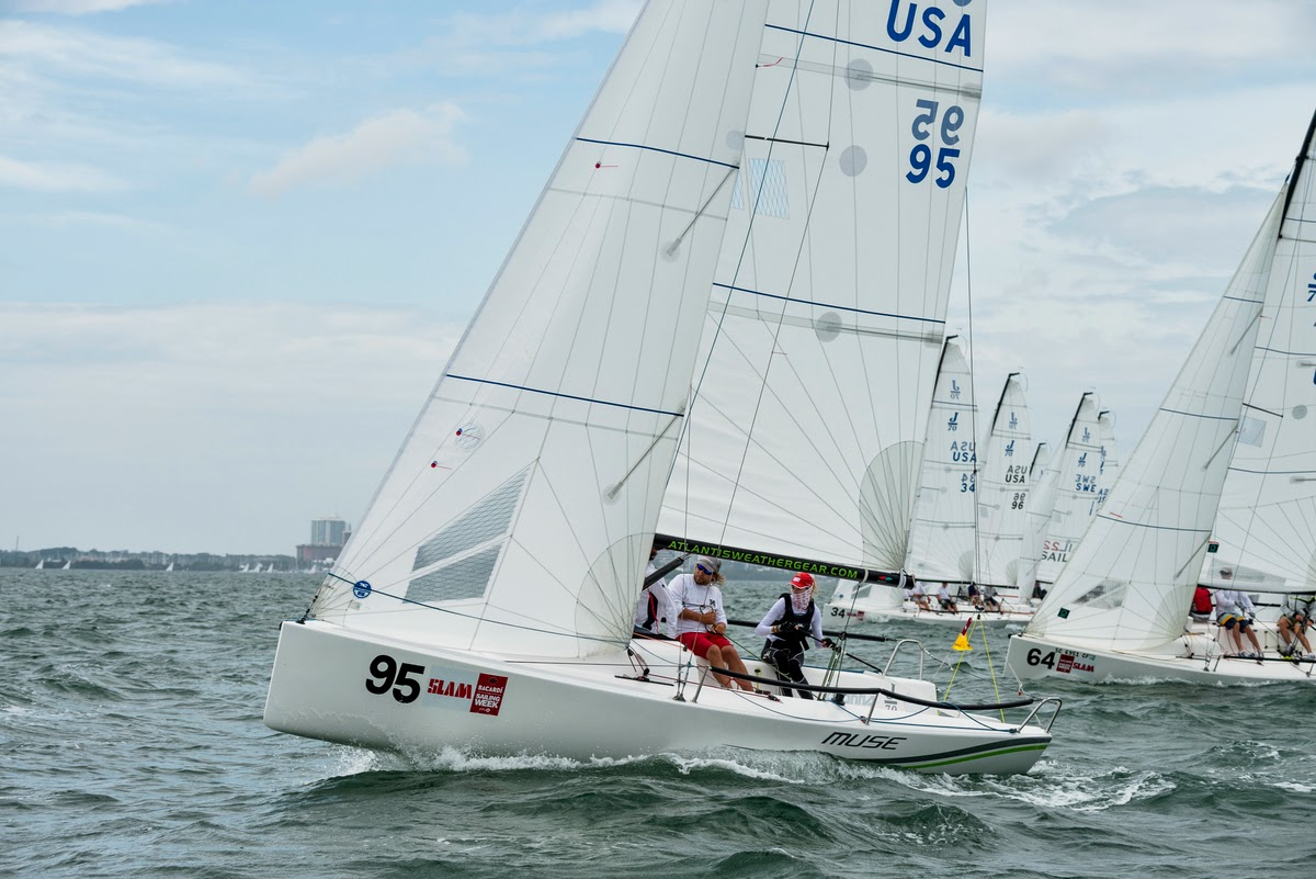 J/70 Muse sailing Bacardi Miami Sailing Week