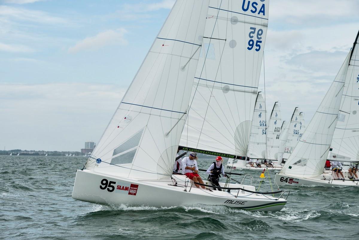 J/70 Muse sailing Bacardi Miami Sailing Week