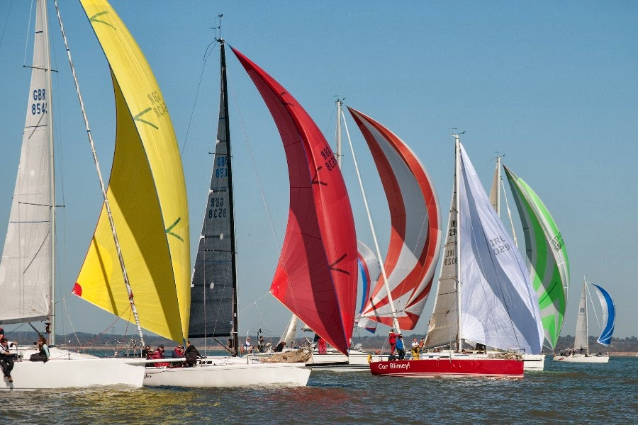 J/109 and J/92 sailing Warsash series on Solent