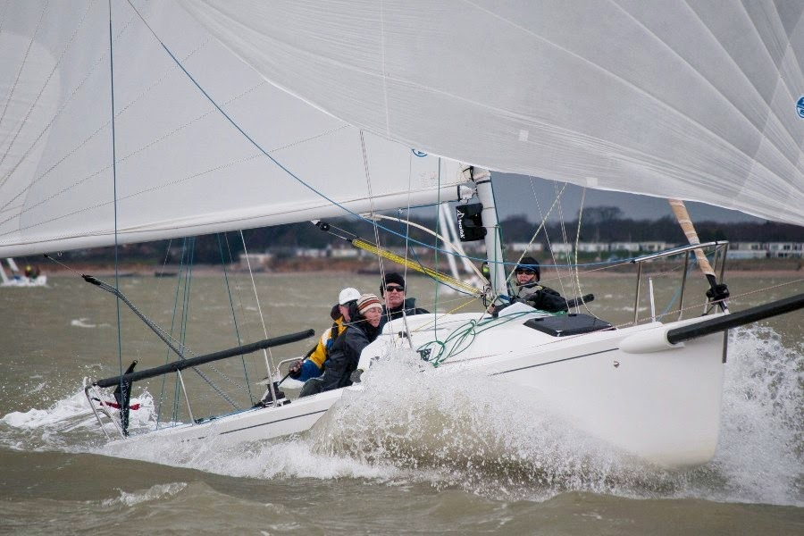 J/80 sailing on Solent- Warsash series
