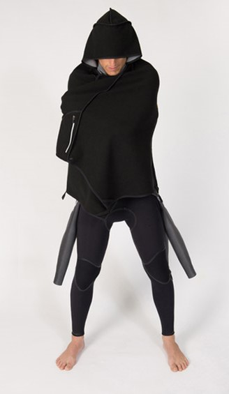 Cloak transforms into a backpack
