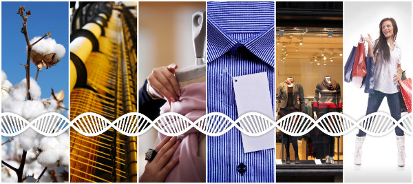 Textile counterfeiting DNA to improve supply chain integrity