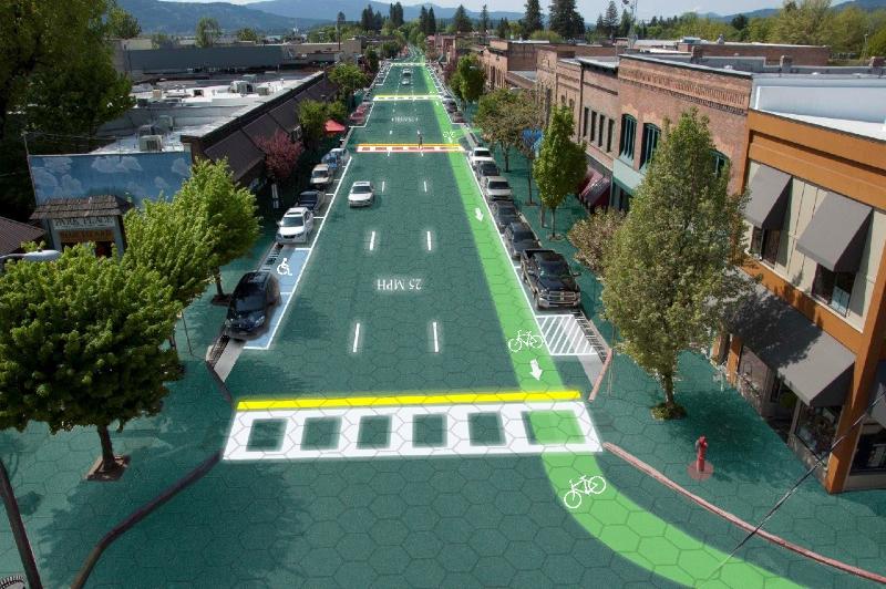 Solar-powered roadways