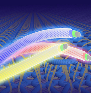 LED fiber research yields color-tunable textile