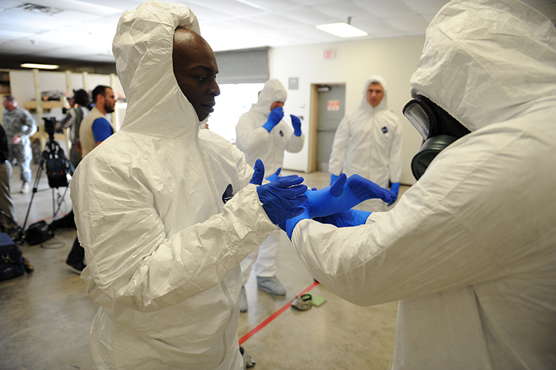 PPE manufacturers are running at capacity to help in the fight against Ebola