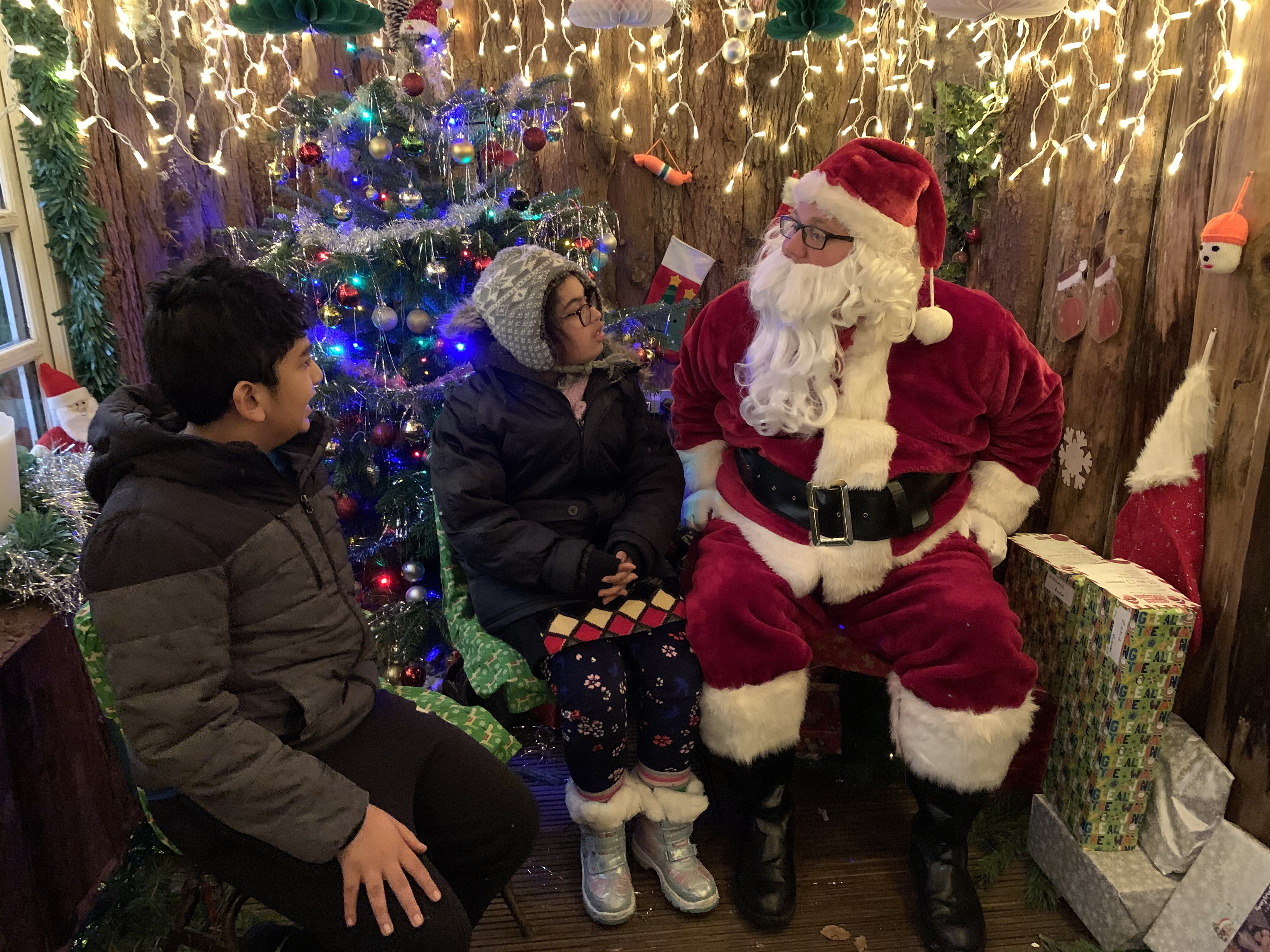Children with Father Christmas