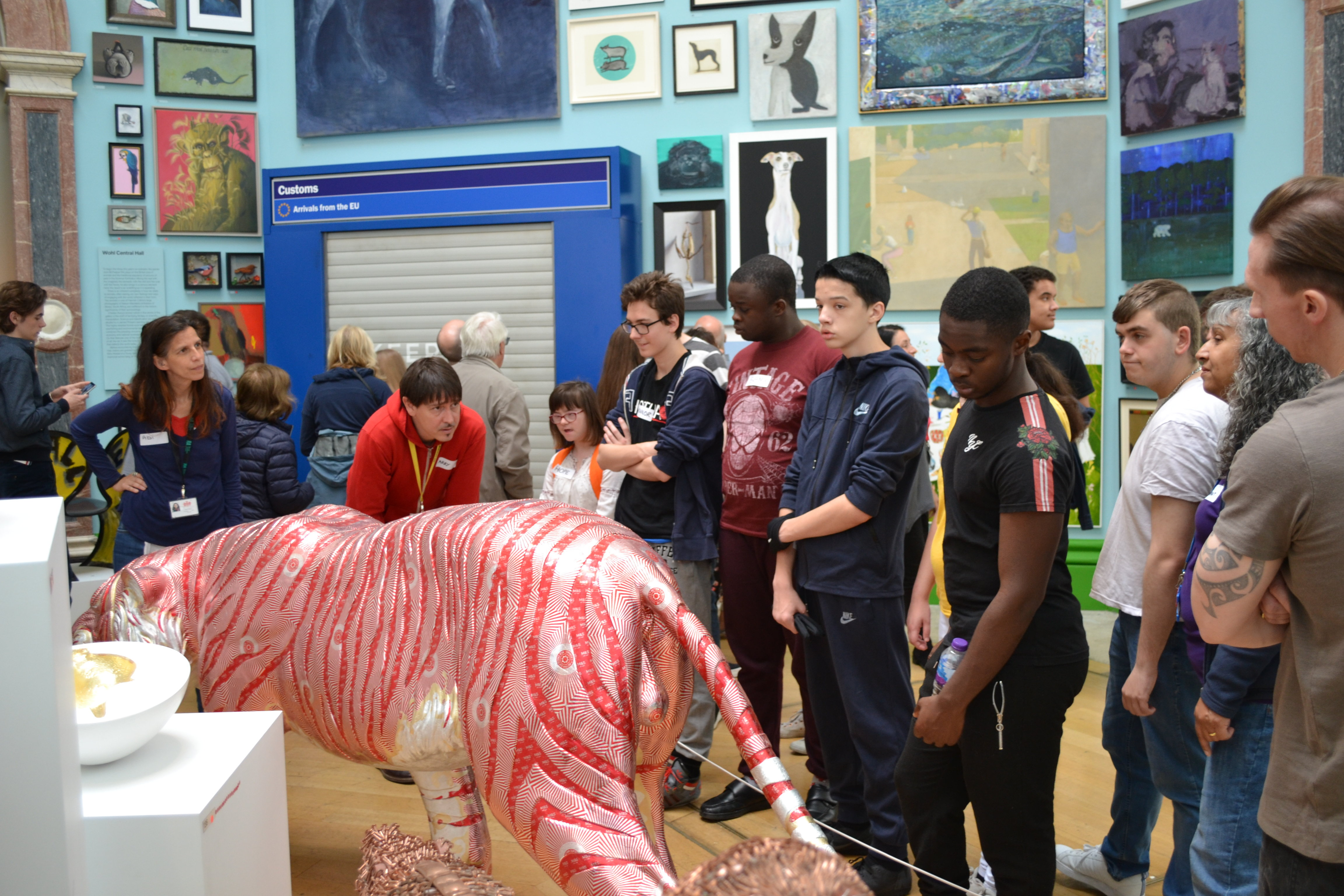 Students at the Royal Academy Summer Exhibition