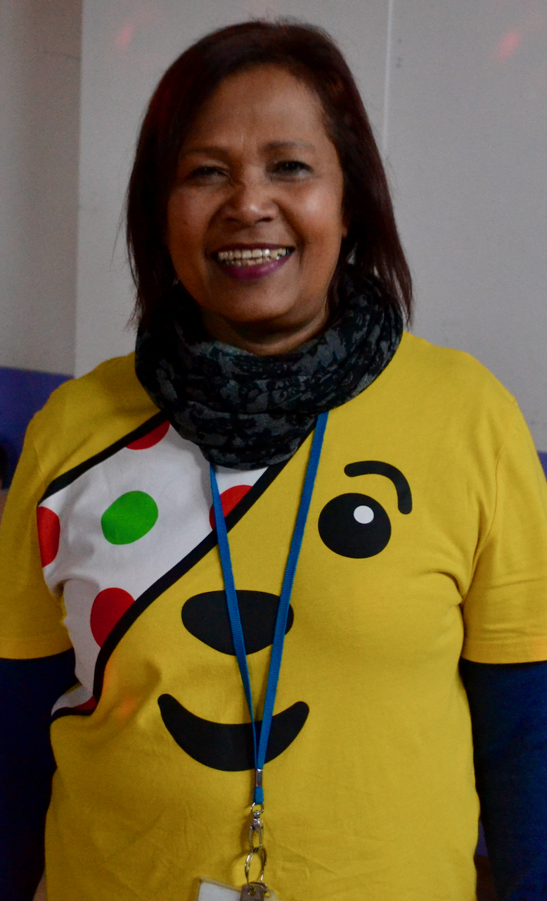 Woman in pudsey top