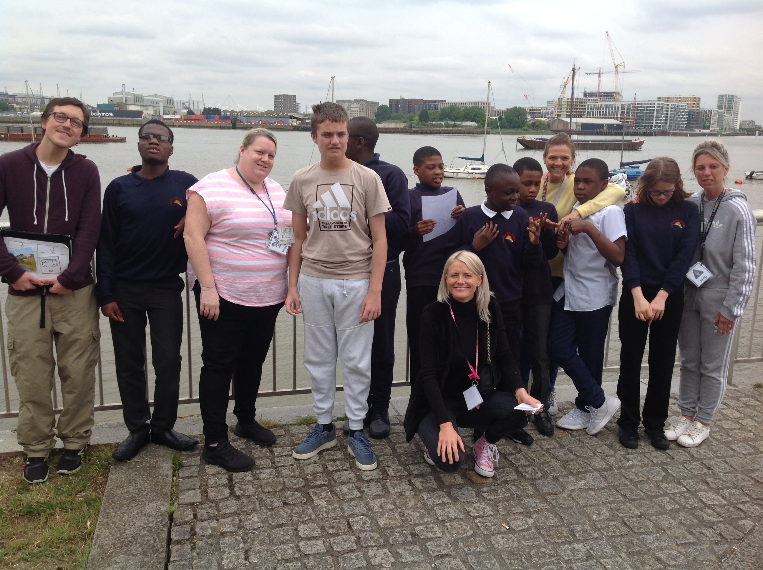 Students at the Ecology Park Woolwich