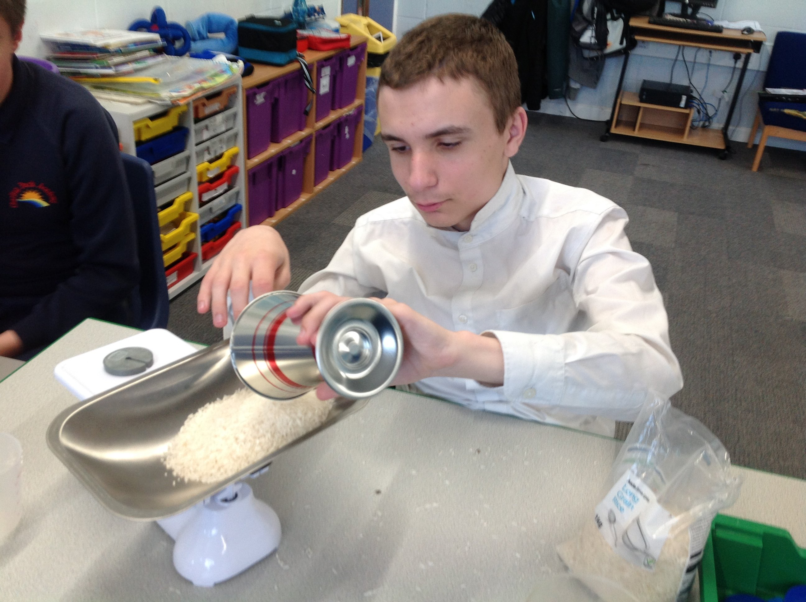 Young man in food tech