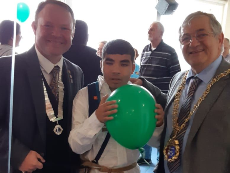 Young man with Hastings' major and deputy