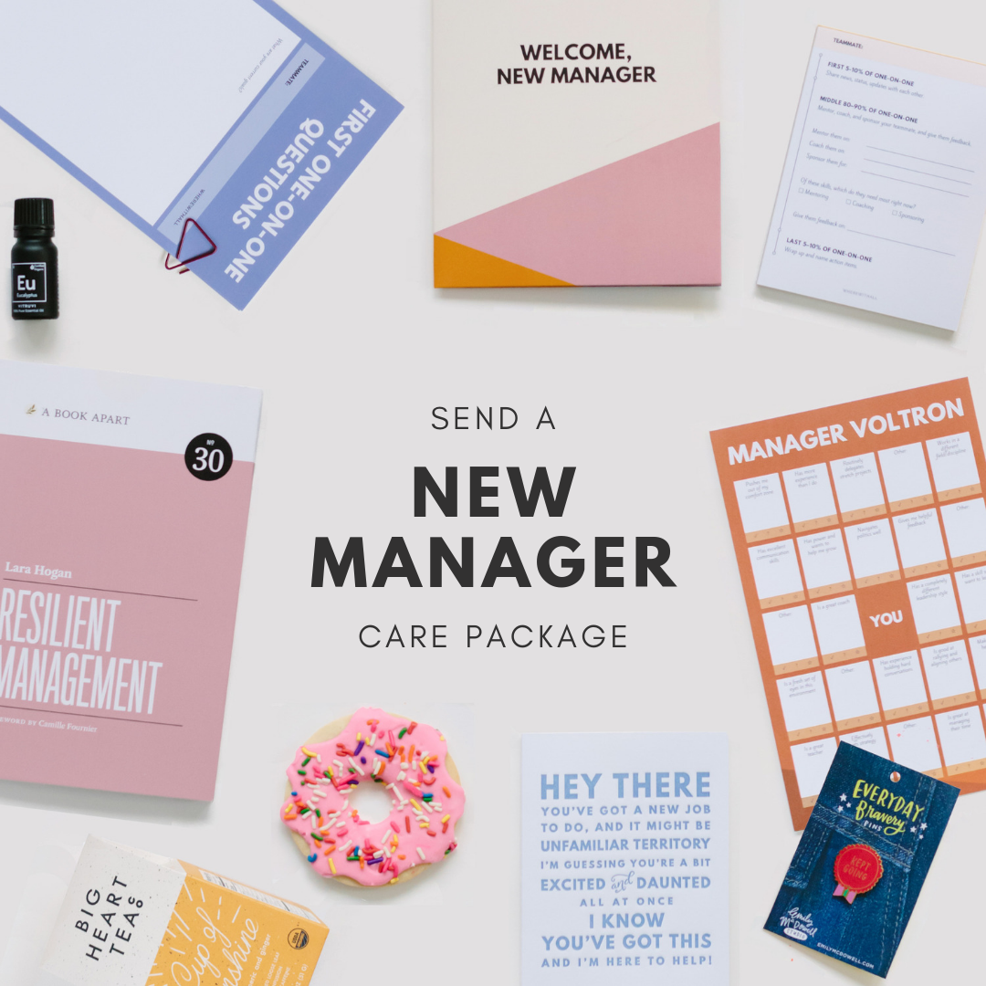 New Manager Care package components