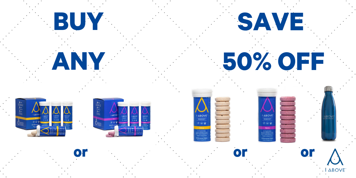 Buy 4 pack, get 50% OFF (x10 tablets or x1 Stainless Steel Bottle)