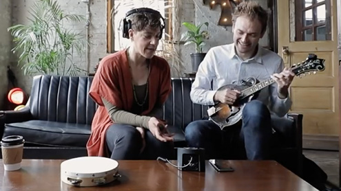 Inspired Collaborations: Chris Thile and Merrill Garbus Have 4 Hours to Record a Song