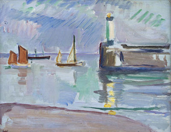'The Mouth of the Harbour', 1910, by SJ Peploe, RSA