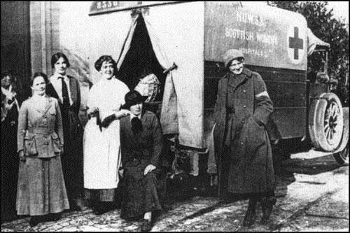 Scottish Women's Hospital Ambulance in World War One