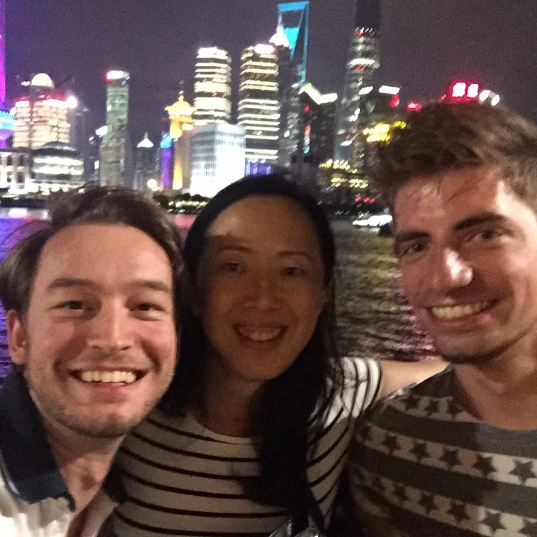 Placement students relaxing after work in Shanghai