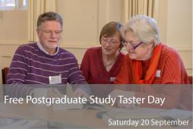 Free Postgraduate Study Taster Day