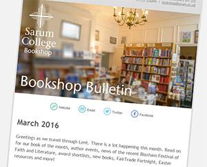 Sarum College Bookshop April Bulletin