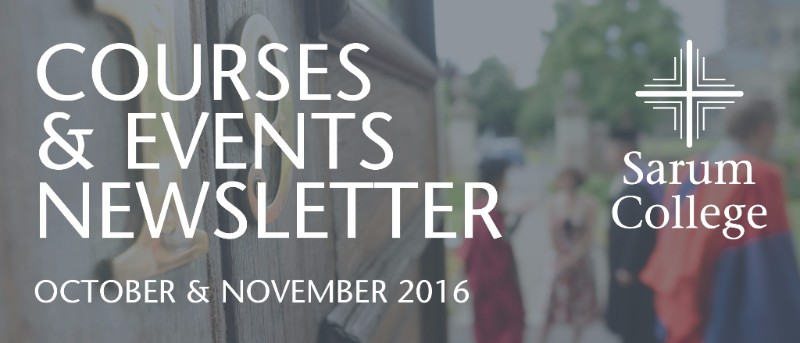 October & November Courses and Events Newsletter
