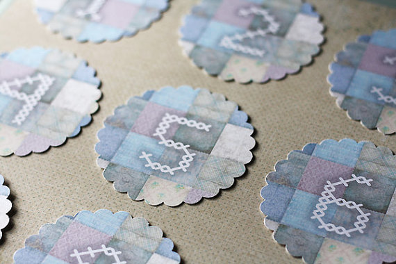 Quilted Design Scalloped Table Numbers