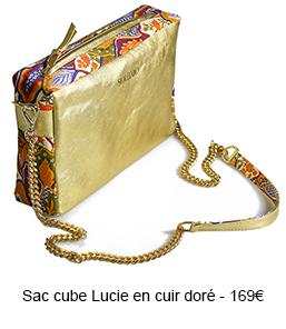 Sac cube cuir Lucie - 169€