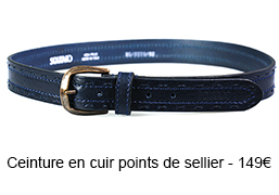 Ceinture en cuir points de sellier - 149€