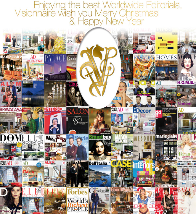 Enjoying the best Worldwide Editorials, Visionnaire wish you Merry Christmas & Happy New Year