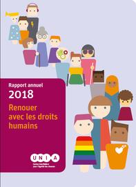 Couverture du rapport d'activités 2018 d'Unia