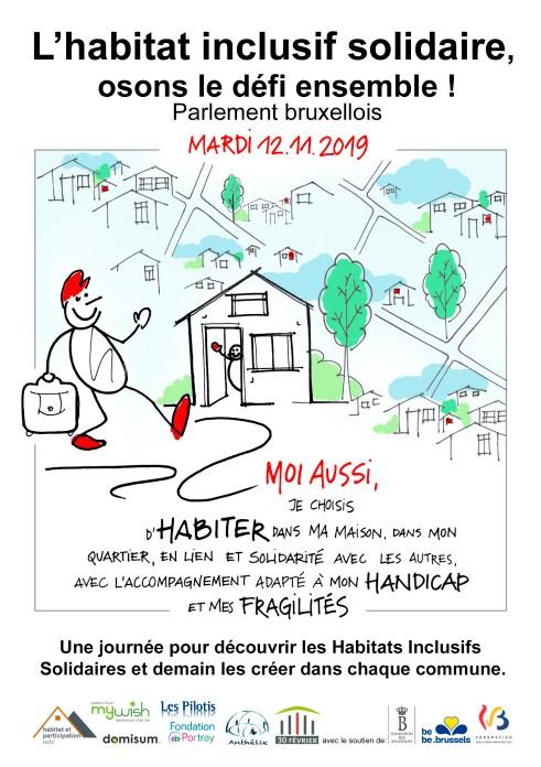 """Affiche de l'événement """"Habitat inclusif solidaire"""""""